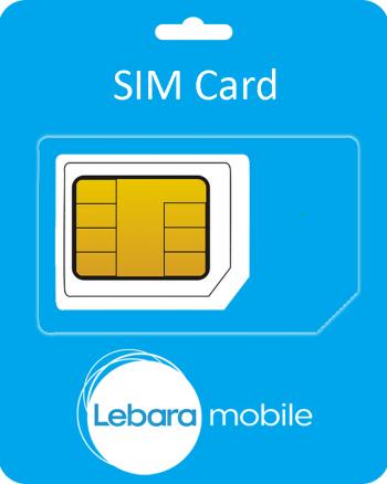 Lebara Mobile Sim Card Incl. €5 beltegoed-0
