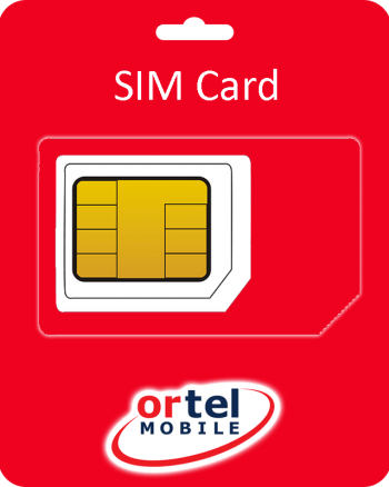 Ortel Mobile Sim Card incl. €2.5 beltegoed + 1GB internet-0
