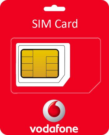 Vodafone Sim Card met €5 beltegoed-0