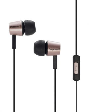 Deepbass Small Size Heavy Bass In-ear Headphones D-12 - Roze-0