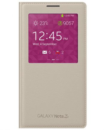 Samsung Note 3 S View Cover Beige-0