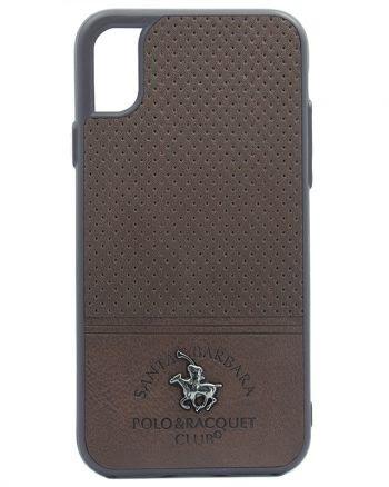 Apple iPhone X Polo Racquet Case bruin-0