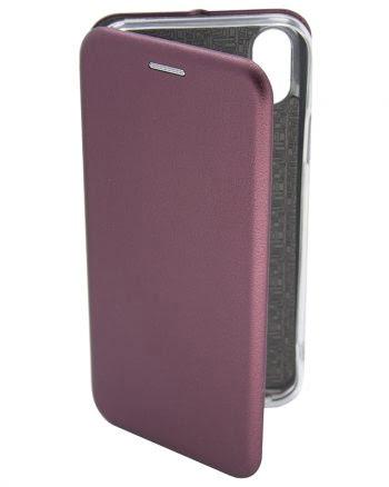Apple iPhone X Metallic BookCase Paars-0