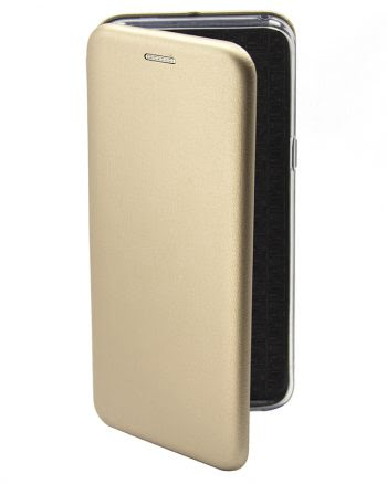 Apple iPhone X Metallic BookCase goud-0
