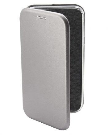 Apple iPhone X Metallic BookCase Zilver-0