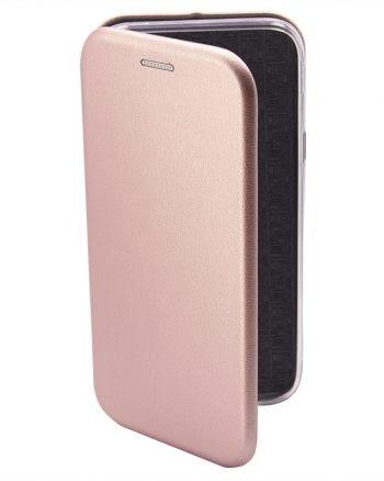 Apple iPhone X Metallic BookCase Roze-0