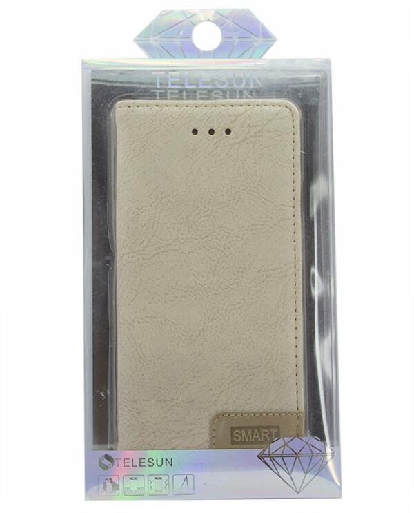 Samsung J7 NXT / Core Smart Bookcase - beige-5701
