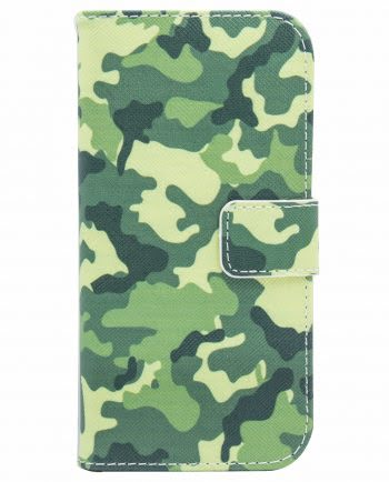 Apple iPhone X Bookcase Army Print 2-0
