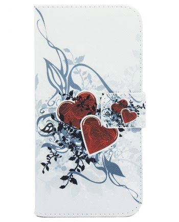 Samsung A3 (2016) Bookcase Leaf Heart-0