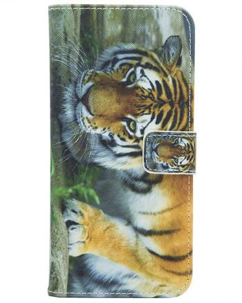 Samsung J7 (2017) Jungle Tiger Bookcase-0