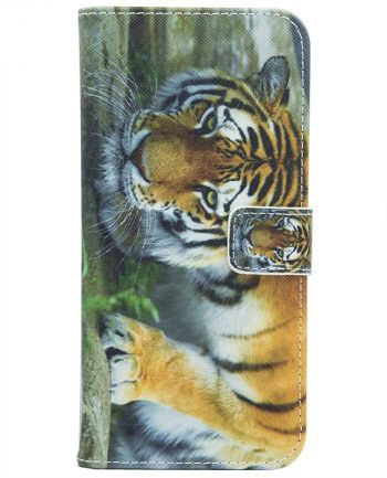 Apple iPhone X BOOKCASE Jungle Tiger-0