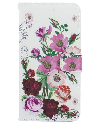 Apple iPhone X Bookcase Flower Bouquet-0