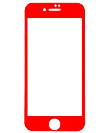 iphone 7 5D Tempered Glass SCREENPROTECTOR rood-0