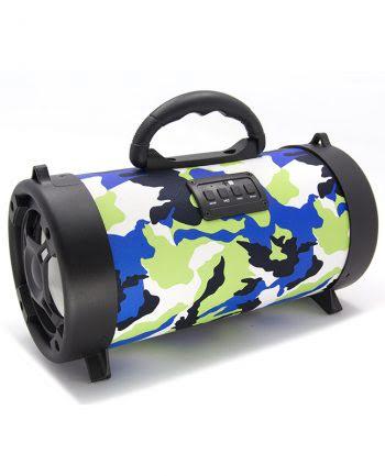 Wireless speaker groot CH-M06 armyprint - blauw-0