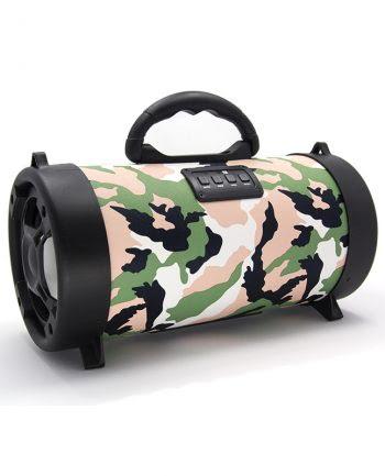 Wireless speaker groot CH-M06 armyprint - roze-0