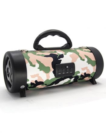 Wireless speaker medium CH-M04 armyprint - roze-0