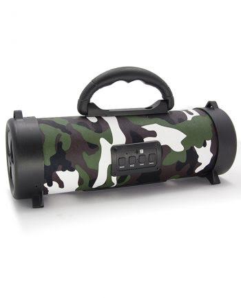 Wireless speaker klein CH-M05 armyprint - Groen-0