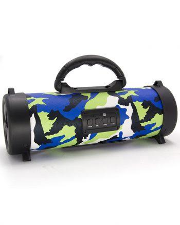 Wireless speaker klein CH-M05 armyprint - Blauw-0