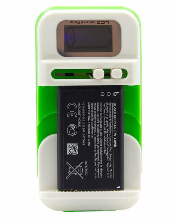 Universele telefoon batterij oplader - groen-7427