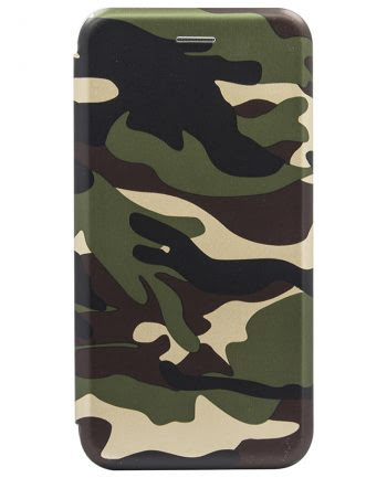 Apple iPhone X Bookcase Army Print 1-0