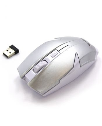 2.4G Wireless Optical Mouse - Zilver-0