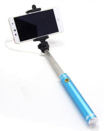 Selfiestick - Metallic Blauw-0