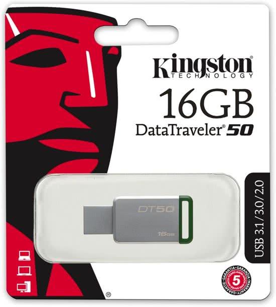 Kingston DataTraveler 50 - USB-stick - 16 GB 100% origineel-7583