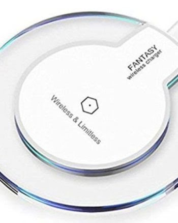 Draadloze QI oplader voor Samsung en Apple Wit-0