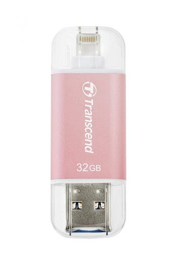 Transcend JetDrive Go 300 Rose 32GB USB 3.1 stick voor iPhone-0