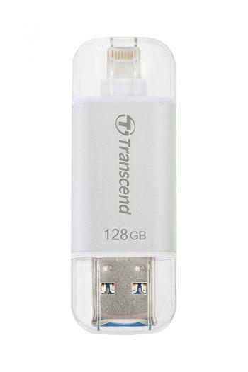 Transcend JetDrive Go 300 Silver 128GB USB 3.1 stick voor iPhone-0