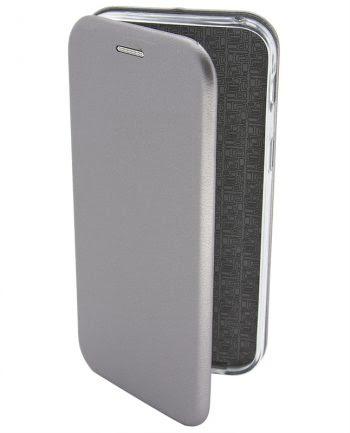 Apple iPhone 4/4S Metallic BOOKCASE Zilver-0