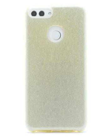Huawei P SMART GOUD GLITTER HOESJE-0