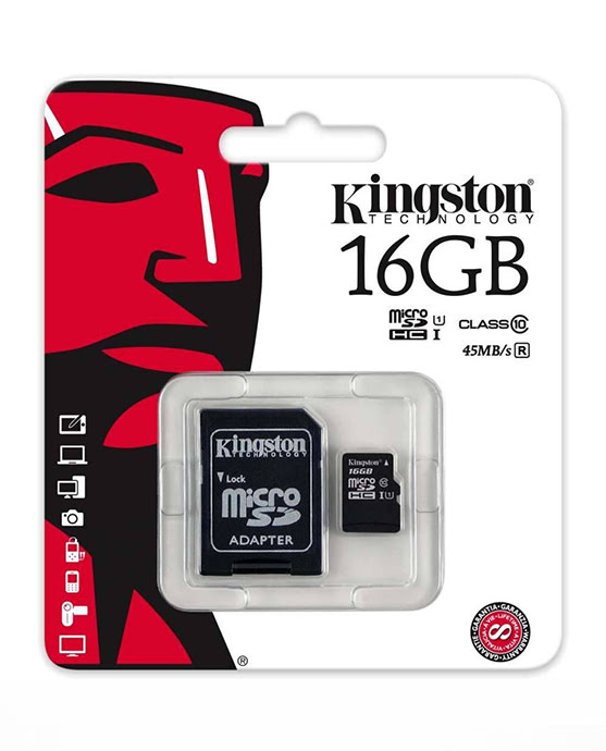 Kingston Micro SD 16GB ORGINEEL Class 10-8968
