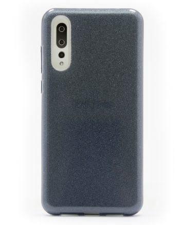 Huawei P20 Plus zwart GLITTER HOESJE-0