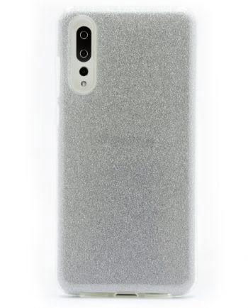 Huawei P20 Plus zilver GLITTER HOESJE-0