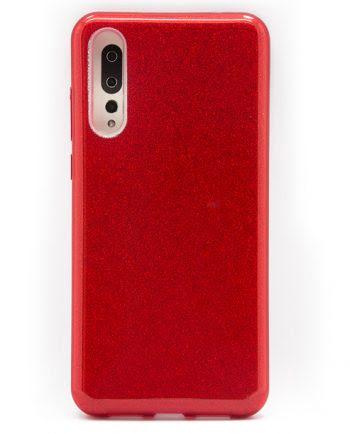 Huawei P20 Plus rood GLITTER HOESJE-0