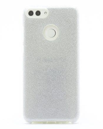 Huawei P SMART ZILVER GLITTER HOESJE-0