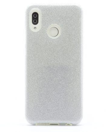 Huawei P20 lite zilver GLITTER HOESJE-0