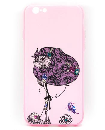Apple iPhone 6(s) Hoesje Elegant vrouw hoed-0