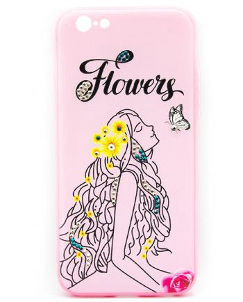 Apple iPhone 6(s) elegant vrouw flower-0