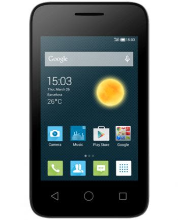 ALCATEL 4009d PIXI 3 DUAL SIM one touch ZWART 512MB-0