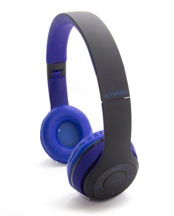 WIRELESS STEREO HEADPHONES TM-019S blauw en zwart-0