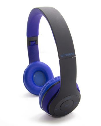 WIRELESS STEREO HEADPHONES TM-019S blauw en zwart-0