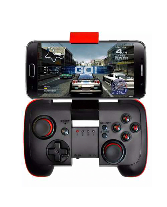 bluetooth controller black and red-0