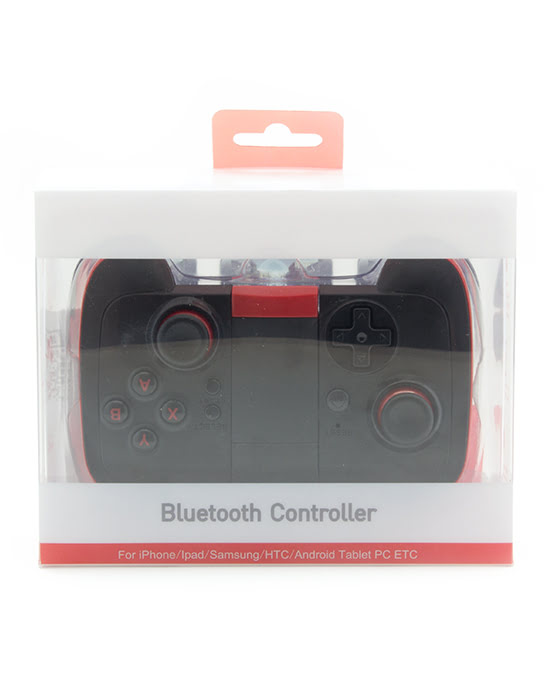 bluetooth controller black and red-11743