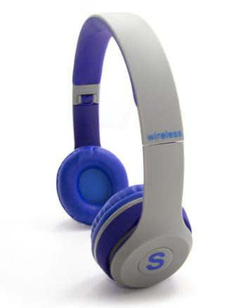 WIRELESS STEREO HEADPHONES TM-019S blauw en grijs-0