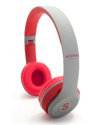 WIRELESS STEREO HEADPHONES TM-019S rood en grijs-0
