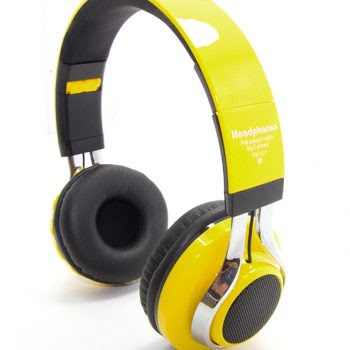 Wireless Headphone led marquee TM-021 geel-0