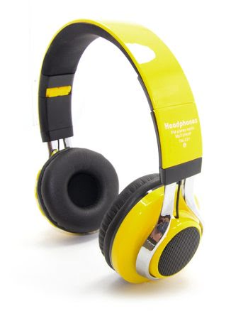 Wireless Headphone led marquee TM-021 geel-0