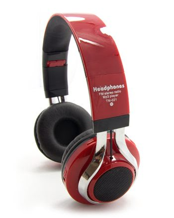 Wireless Headphone led marquee TM-021 rood-0